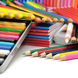 Collection colored pencils Stock Image