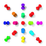 Collection of colored pins Stock Photography