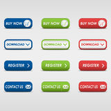 Collection of colored rectangular buttons Royalty Free Stock Photography