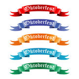 Collection of colored ribbons with the text Oktoberfest Stock Photos