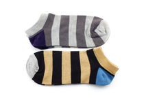 Collection of colored socks isolate on white background Stock Image