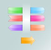 Collection of colored tabs Royalty Free Stock Photo