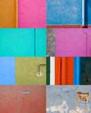 Collection of colored walls Royalty Free Stock Image