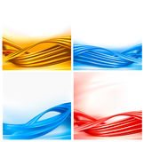 Collection of colorful abstract backgrounds. Stock Photography