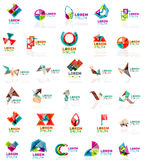 Collection of colorful abstract origami logos Royalty Free Stock Photo