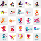 Collection of colorful abstract origami logos Stock Image