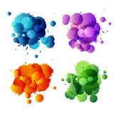 Collection of colorful abstract paint splash Royalty Free Stock Photo