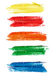 Collection of colorful abstract watercolor banners/speech bubble Stock Photography