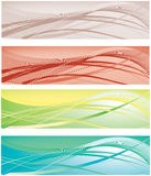 The collection of colorful backgrounds Royalty Free Stock Photos