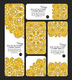 Collection of colorful banners and business cards. Vintage decorative templates. Royalty Free Stock Photos