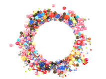 Collection of Colorful Beads Decoration. Beautiful Colorful Circle Beads Decoration on Background Royalty Free Stock Image