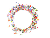 Collection of Colorful Beads Decoration. Beautiful Colorful Circle Beads Decoration on Background Stock Image