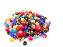 Collection of Colorful Beads Decoration. Collection of Beautiful ColorfulBeads Decoration on Background Royalty Free Stock Images