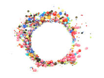 Collection of Colorful Beads Decoration. Collection of Beautiful ColorfulBeads Decoration on Background Royalty Free Stock Image