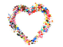 Collection of Colorful Beads Decoration. Collection of Beautiful ColorfulBeads Decoration on Background Stock Photo
