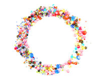Collection of Colorful Beads Decoration. Collection of Beautiful ColorfulBeads Decoration on Background Stock Images