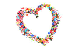 Collection of Colorful Beads Decoration. Collection of Beautiful ColorfulBeads Decoration on Background Stock Photos