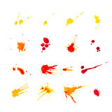Collection of colorful blots royalty free illustration