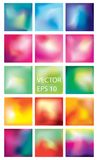 Collection of 15 colorful blurred abstract colorful backgrounds. Images EPS 10 vector illustration