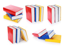 Collection of colorful book formation Royalty Free Stock Photo