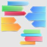 Collection of colorful bright infographics arrows Royalty Free Stock Photo