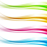 Collection of colorful bright web header footer dividers Royalty Free Stock Photography