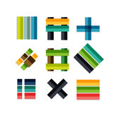 Collection of colorful business geometric shapes Stock Image
