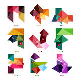Collection of colorful business geometric shapes Royalty Free Stock Image