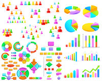 Collection of colorful Business Graph and Flow Chart Royalty Free Stock Photography