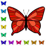 Collection of colorful butterflies. Vector clipart of butterflies Stock Photos