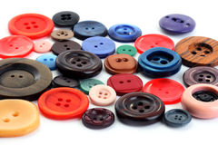 Collection of Colorful Buttons Stock Images