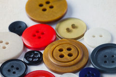 Collection of colorful buttons. Difference concept. closeup stock photo