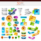 Collection of colorful buttons, icons, stickers Stock Photography