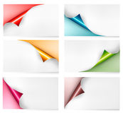 Collection of colorful cardboard paper banners. Royalty Free Stock Photography