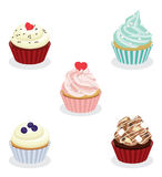 Collection of colorful cupcake. Vector collection of colorful cupcake Stock Photo