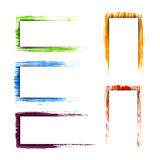 Collection of colorful detailed frames. Collection of colorful detailed grunge frames Royalty Free Stock Images