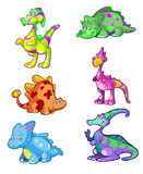 Collection of colorful dino's Stock Photo