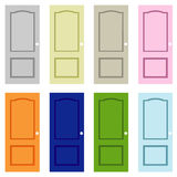 Collection colorful doors Art Royalty Free Stock Images