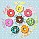 Collection of colorful doughnut Royalty Free Stock Image