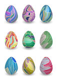 Collection of colorful egg with ornaments Stock Image