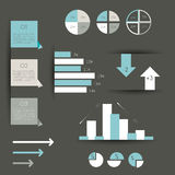 Collection of colorful flat infographic elements. Stock Photos