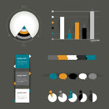Collection of colorful flat infographic elements. Royalty Free Stock Photography