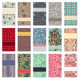 Collection of colorful floral ornamental business Stock Photography