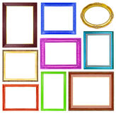 The collection colorful frames on the white background Royalty Free Stock Image