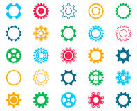 Collection of colorful gear wheel icons Stock Images