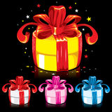 Collection of colorful gifts Royalty Free Stock Photos