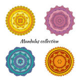 Collection of colorful hand drawn vector mandalas. Vector EPS 10 illustration for design vector illustration