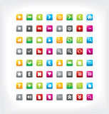 Collection of colorful icons Stock Photos
