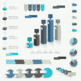Collection of colorful infographic elements. Stock Photos