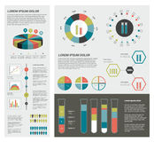 Collection of colorful infographic elements. Stock Photo